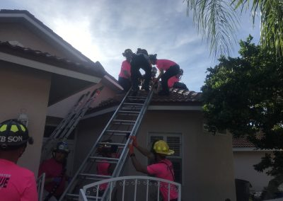 Rescue of an Injured Worker on a Roof