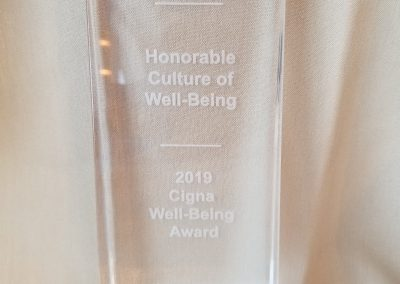 Cigna's 2019 Honorable Culture of Well-Being award