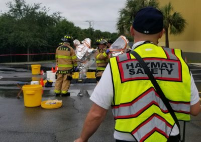 Sarasota County Fire Department & Southern Manatee Fire Rescue District Respond to an Anhydrous Ammonia Leak